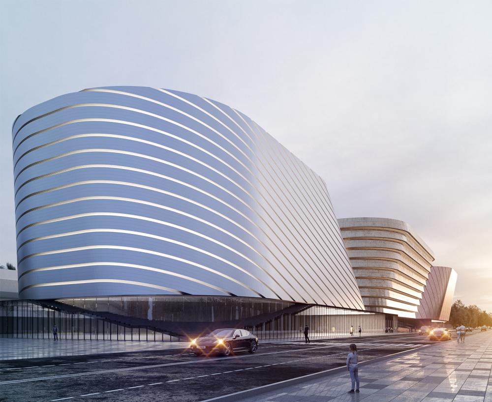 Центр единоборств, концепция, 2019. 2 вариант<br>© Kamen architects
