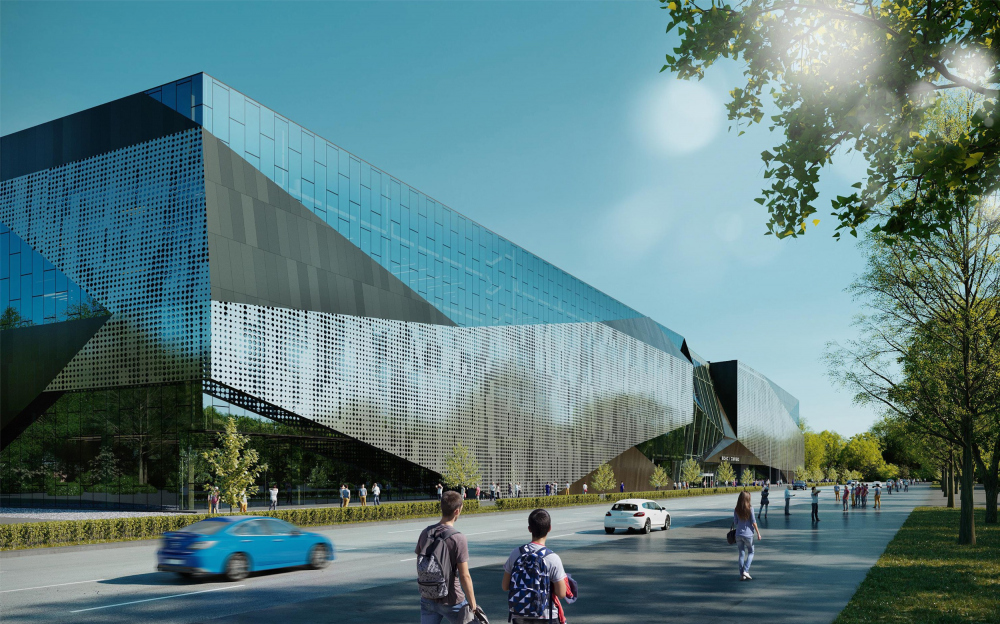 Центр единоборств, концепция, 2019. 1 вариант<br>© ТПО «Резерв»