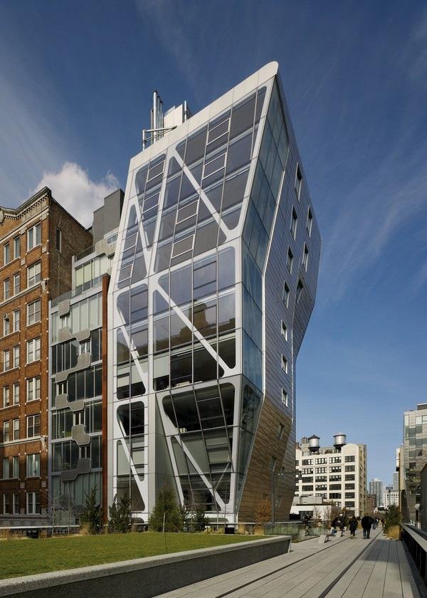 Здание HL23 при взгляде с Хай-Лайн. Neil M. Denari Architects и Marc Rosenbaum Architects<br>Фото © Neil M.DenariArchitects
