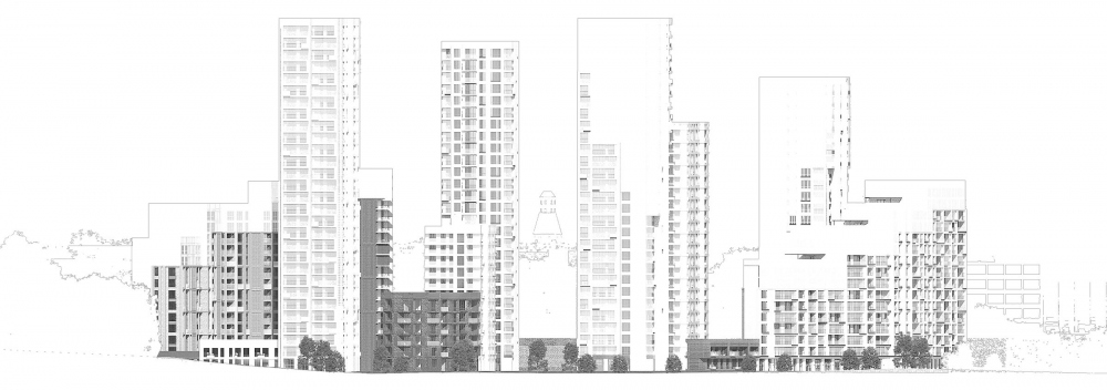RiverSky housing complex. Development drawing<br>Copyright: © Bureau of Architecture GREN.