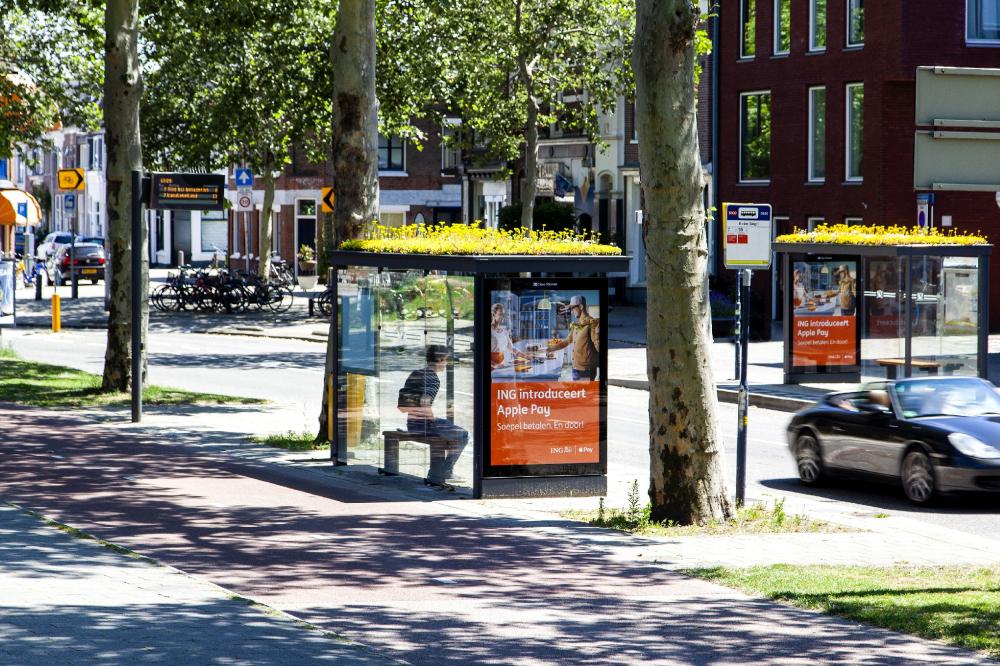 Автобусная остановка в Утрехте<br>Фотография © Barbra Verbij. Предоставлена компанией Clear Channel