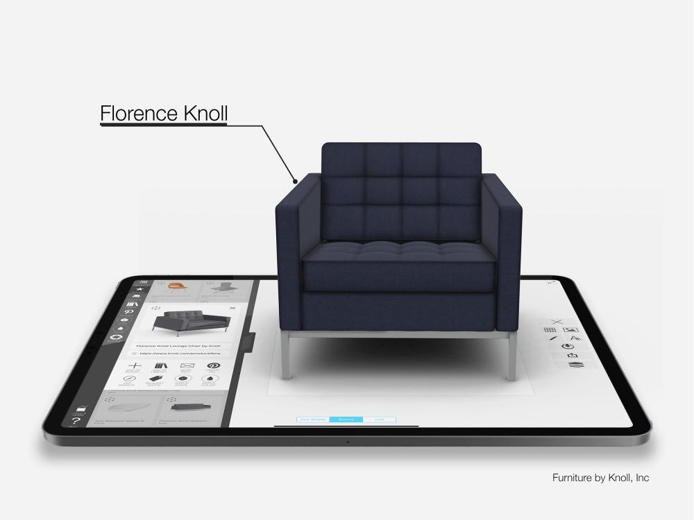 Кресло Knoll. Автор дизайна Флоренс Нолл Бассетт<br>Изображение предоставлено Morpholio