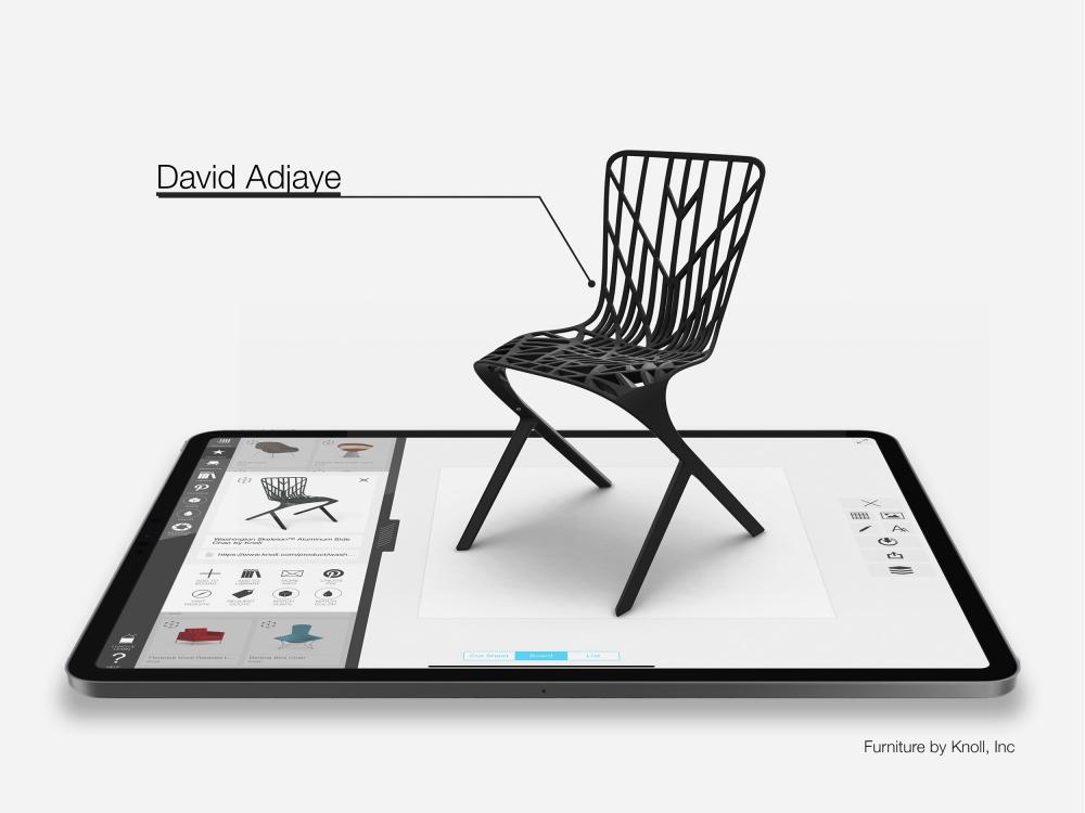 Кресло Washington Skeleton. Автор дизайна Дэвид Аджайе<br>Изображение предоставлено Morpholio