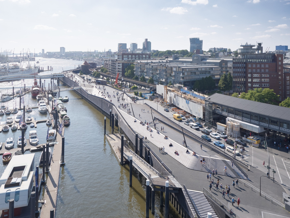 Променад в гавани Нидерхафен<br>Фото © Piet Niemann