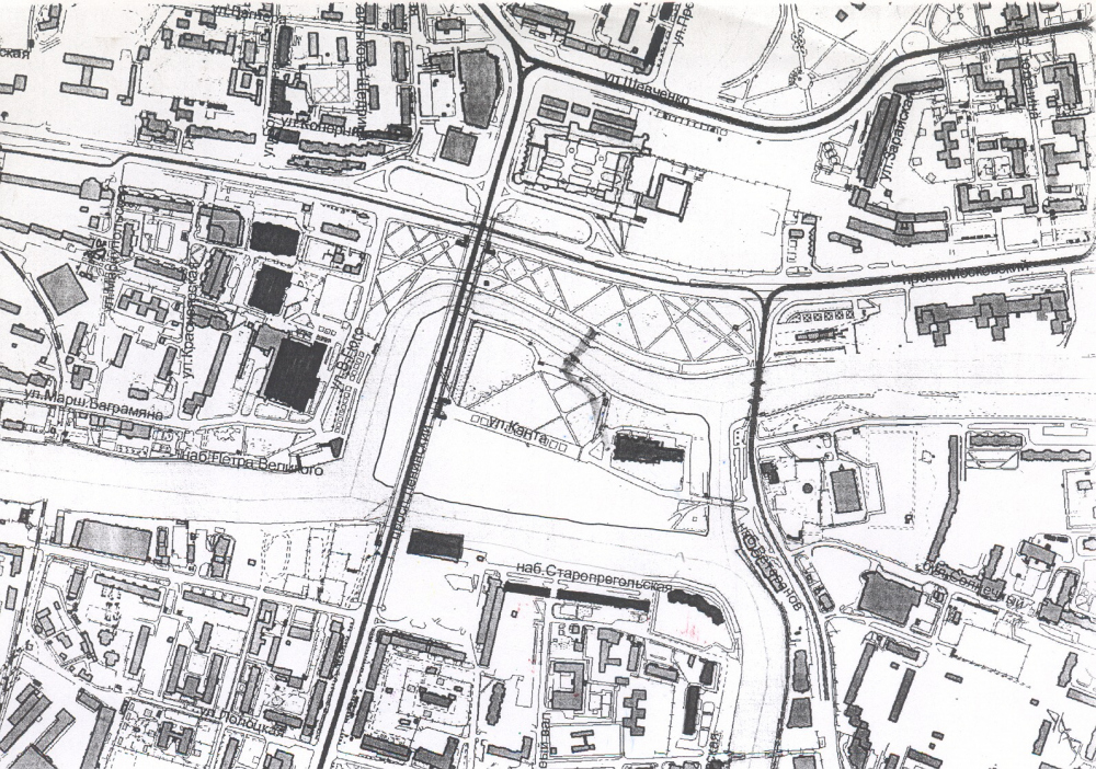 Современный план Калининграда