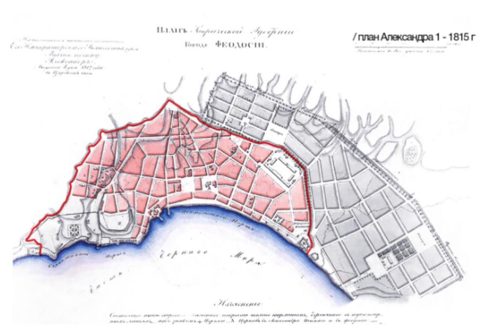 План Феодосии 1815г.