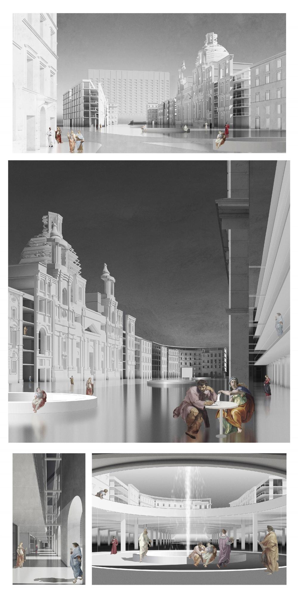Piazza Nanova Нагорного района. Виды площади<br>Надежда Егерева