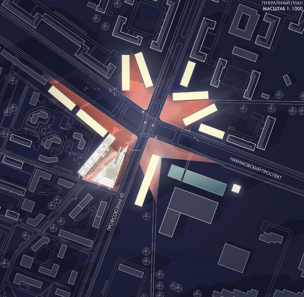 «Площадь Звезды» у метро Профсоюзная. Генплан после реконструкции<br>Анастасия Тряпичникова