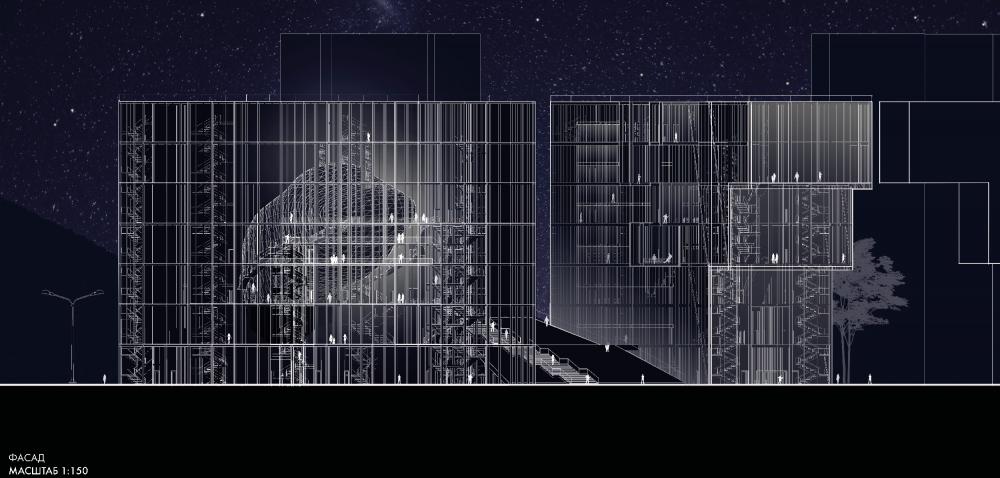 «Площадь Звезды» у метро Профсоюзная. Фасад комплекса<br>Анастасия Тряпичникова