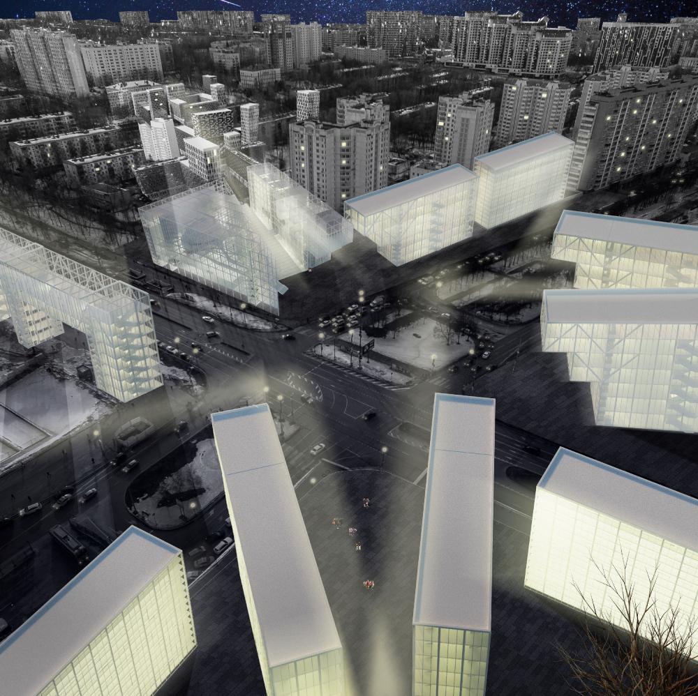 «Площадь Звезды» у метро Профсоюзная. Аксонометрический вид<br>Анастасия Тряпичникова