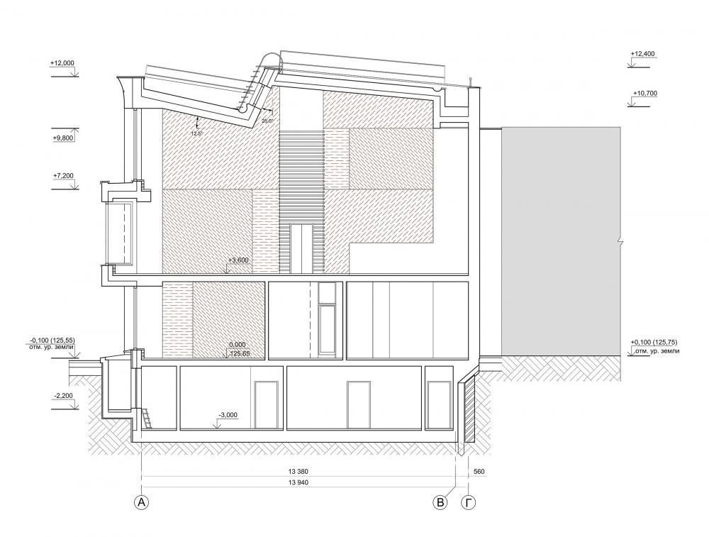 The studio of Zurab Tsereteli. Section 2-2<br>Copyright: © Mezonproekt