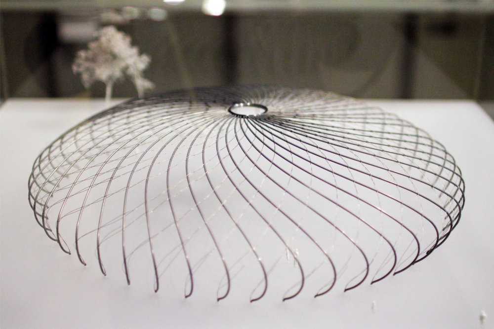 The dome model in Millenium Park, Chcago, USA. Werner Sobek, Stuttgart. Institute of Lightweight Constructions and Conceptual Design. 2019 // Exhibition