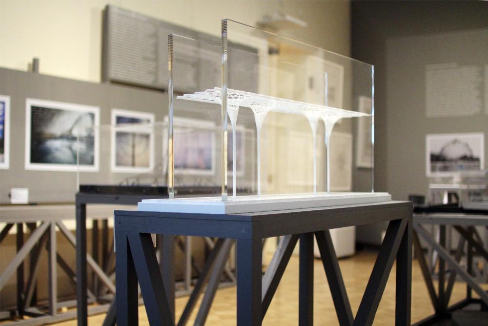 Model of the roof construction in Hamburg. 2013-2021. Plastic. Werner Sobek. Stuttgart. Exhibition