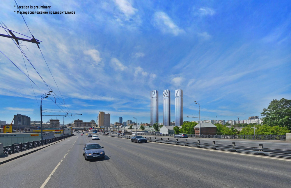 Version 2. The sketch project of RZD skyscrapers<br>Copyright: © GrandProektCity