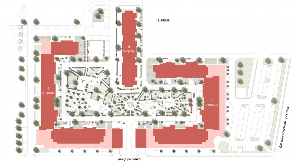 "The master plan. ""Renaissance"" housing complex<br>Copyright: © Liphart Architects"