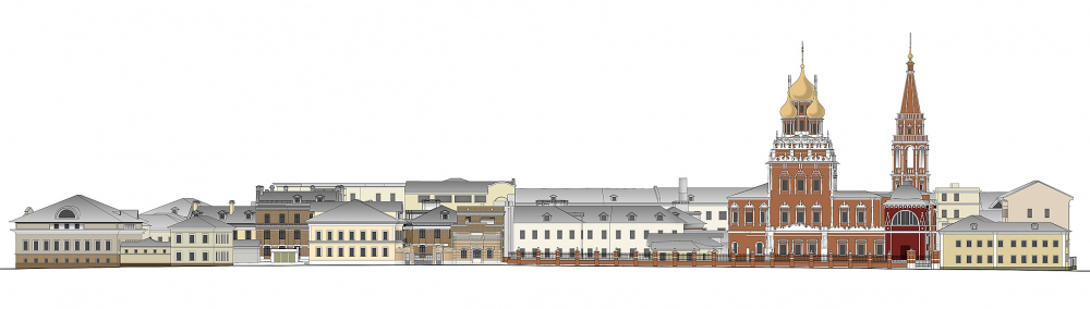 "Development drawing on the 2nd Kadashevsky lane. The residential complex ""Metsenat"" in Kadashi<br>Copyright: © U-Studio"