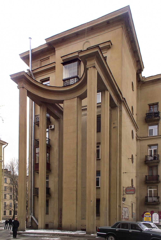 I.Fomin, E.Levinson. House 14, Ivanovskaya Street, Saint Petersburg. 1940<br>Copyright: Photograph © Stepan Liphart