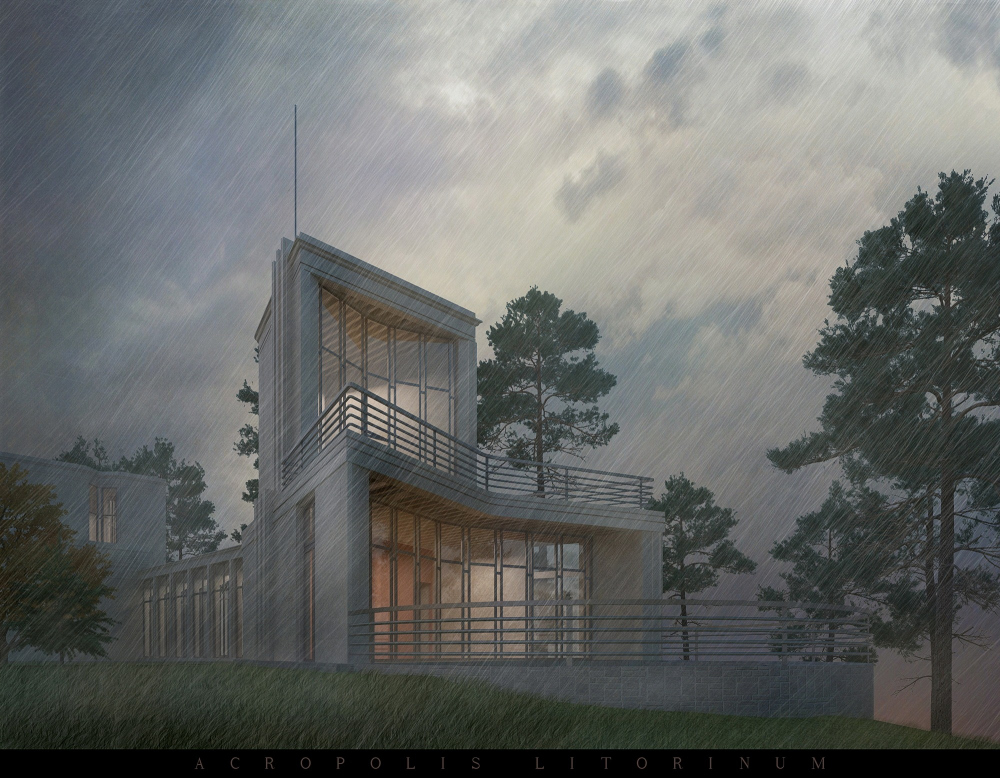 "The project of the ""Acropolis Litorinum"" villa, 2015. Computer simulation. Leningrad region. Not implemented. Private client<br>Copyright: © Stepan Liphart"