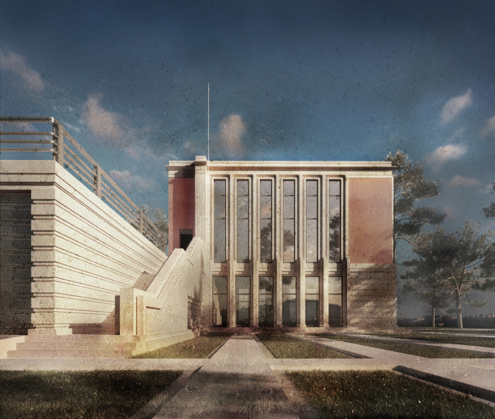 """The project of the """"Pavillon Lecayet"""" villa, 2015. Computer simulation. Moscow region. Not implemented. Private client<br>Copyright: © Stepan Liphart"""