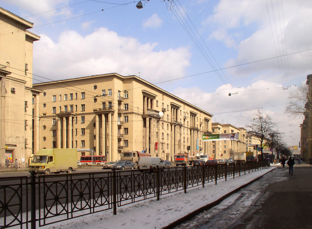 Architects: E.Levinson, I,Fomin. The houses at the Ivanovskaya Street in Saint Petersburg. 1934-1938<br>Copyright: © Stepan Liphart