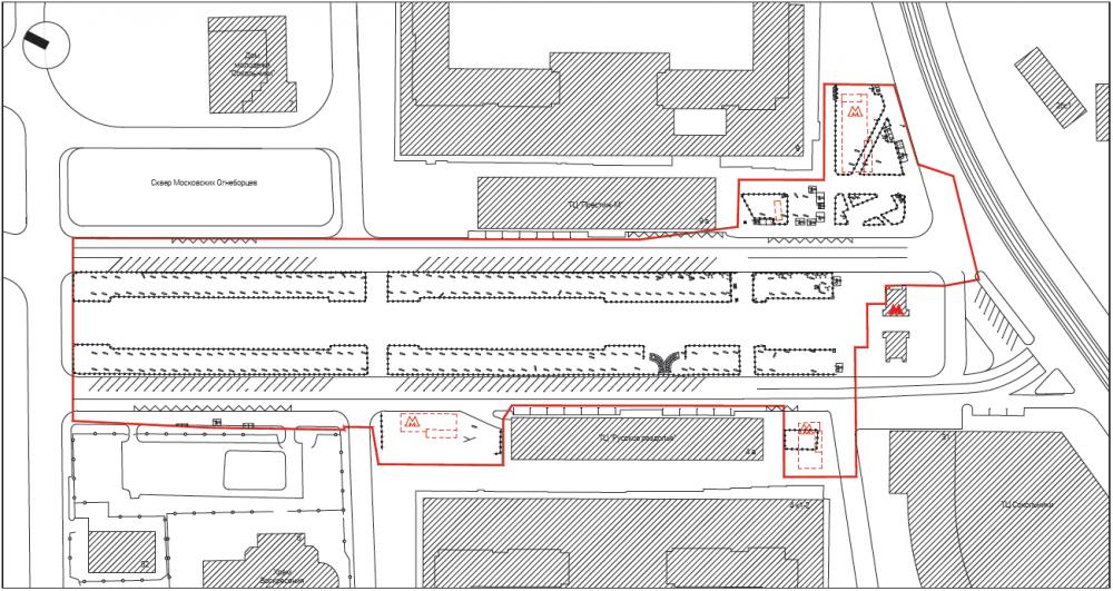 Границы проектирования. Сокольническая площадь<br>© Megabudka
