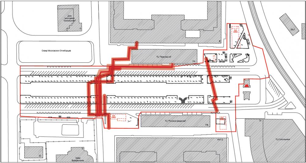 Подземные коммуникации. Сокольническая площадь<br>© Megabudka