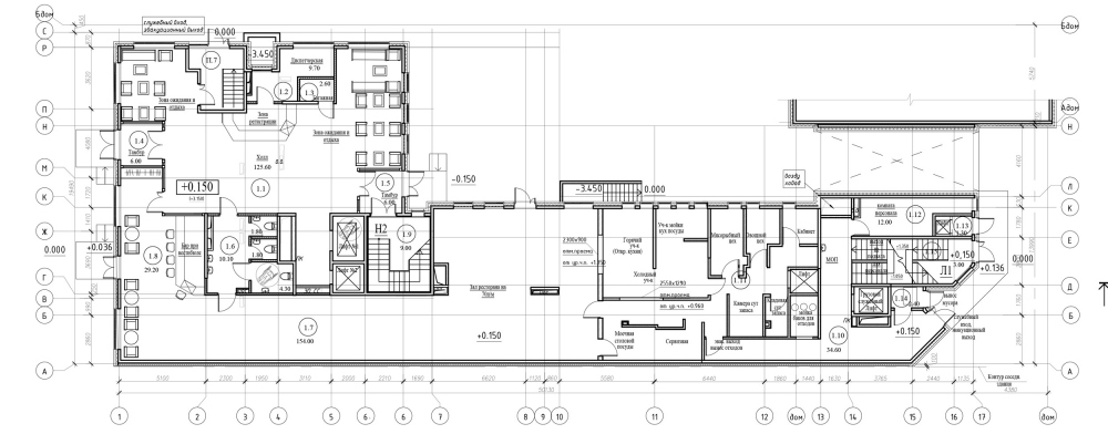 """The first floor of the hotel. """"Amo"""" residential complex<br>Copyright: © Liphart Architects"""