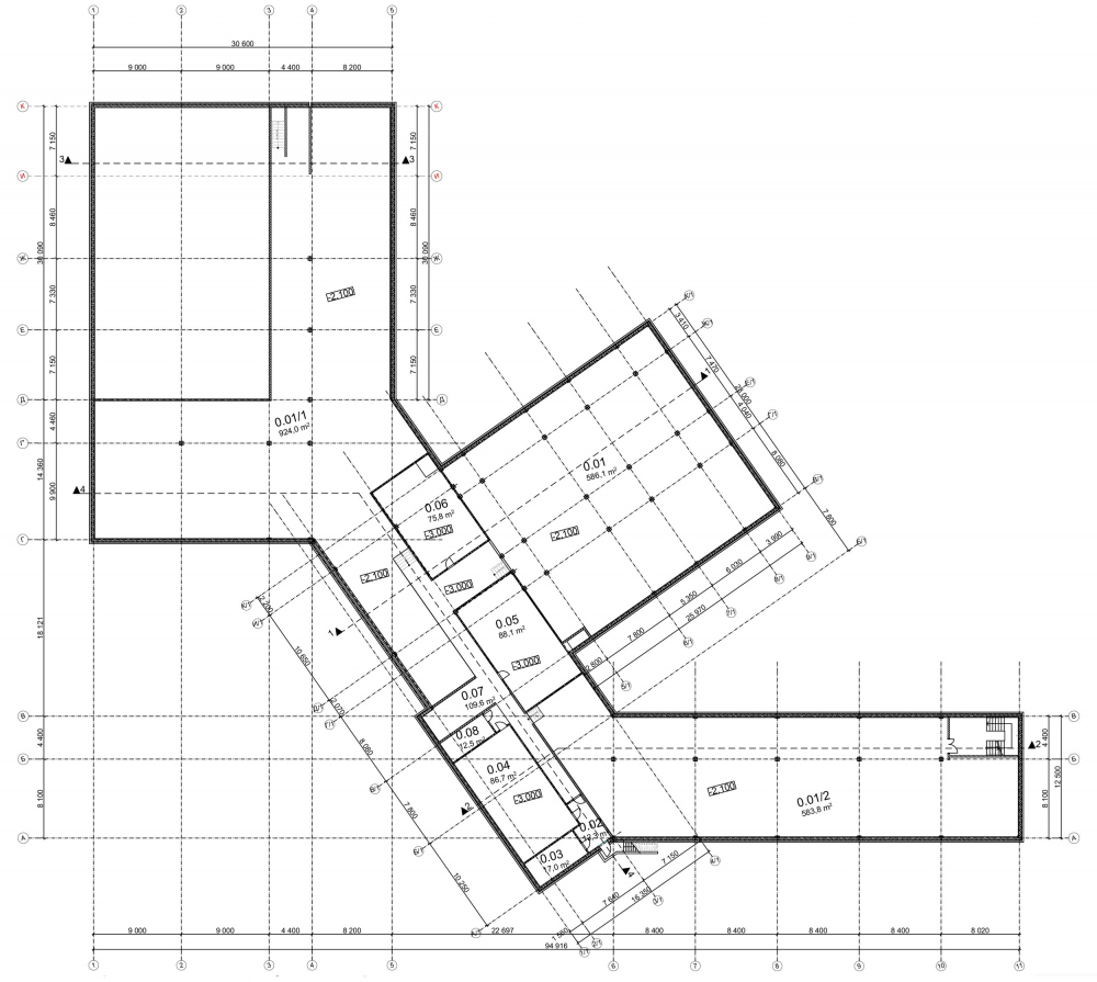 Plan of the basement and the maintenance floors. General education school for 275 students<br>Copyright: © ASADOV_ architects, Akademproekt