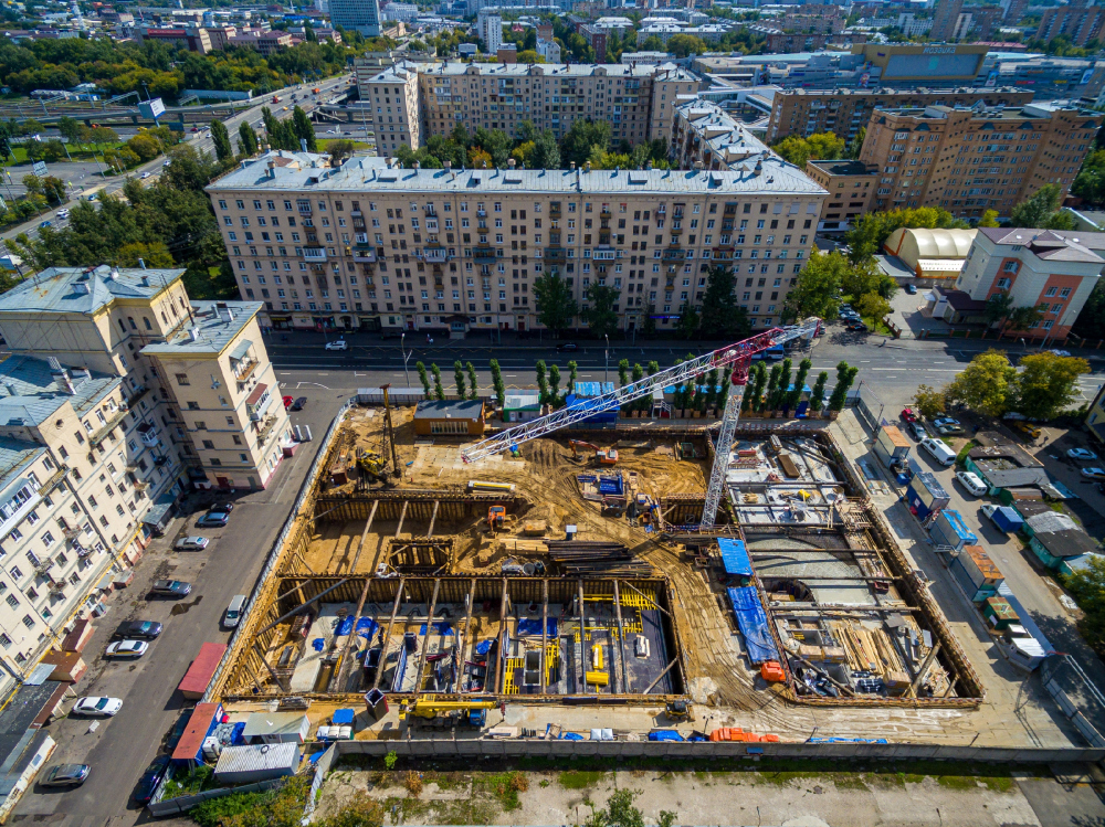 High-end residential complex Vitality: construction, 2020<br>Copyright: Photograph © ADM