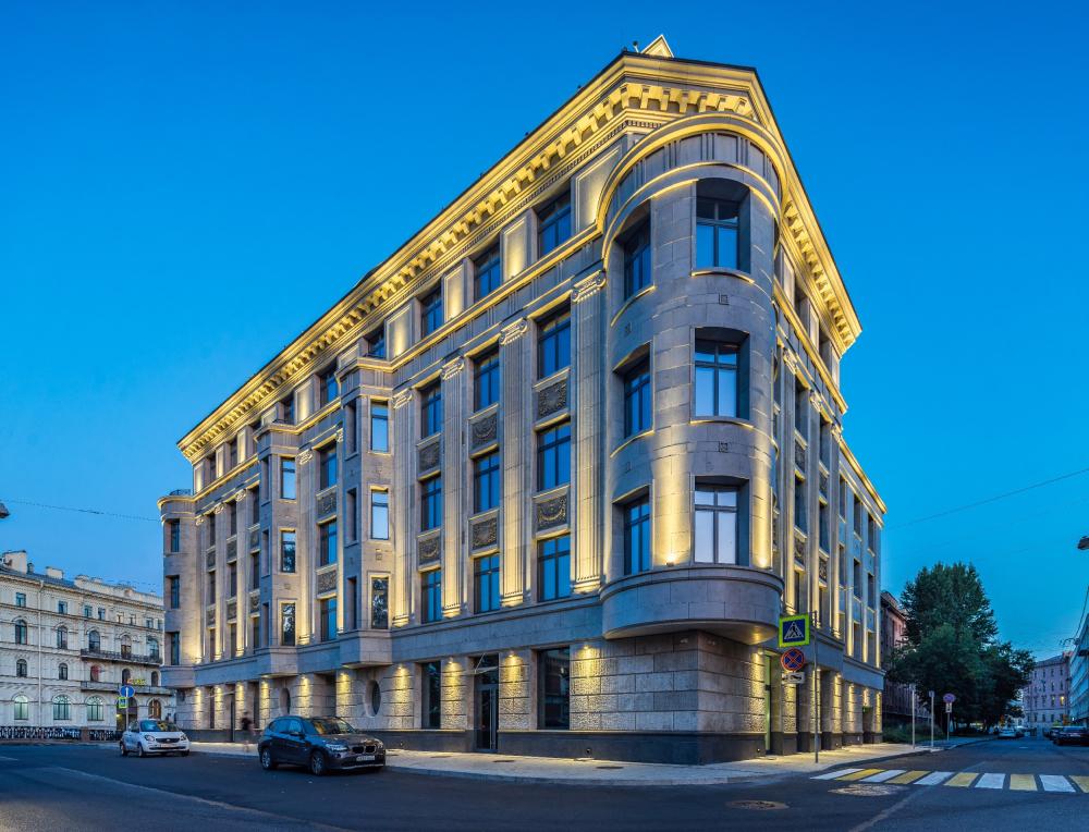 High-end residential complex Art View House on the Moika Embankment, 102, 2019<br>Copyright: Photograph © Ilia Priporov / Evgeniy Gerasimov and Partners