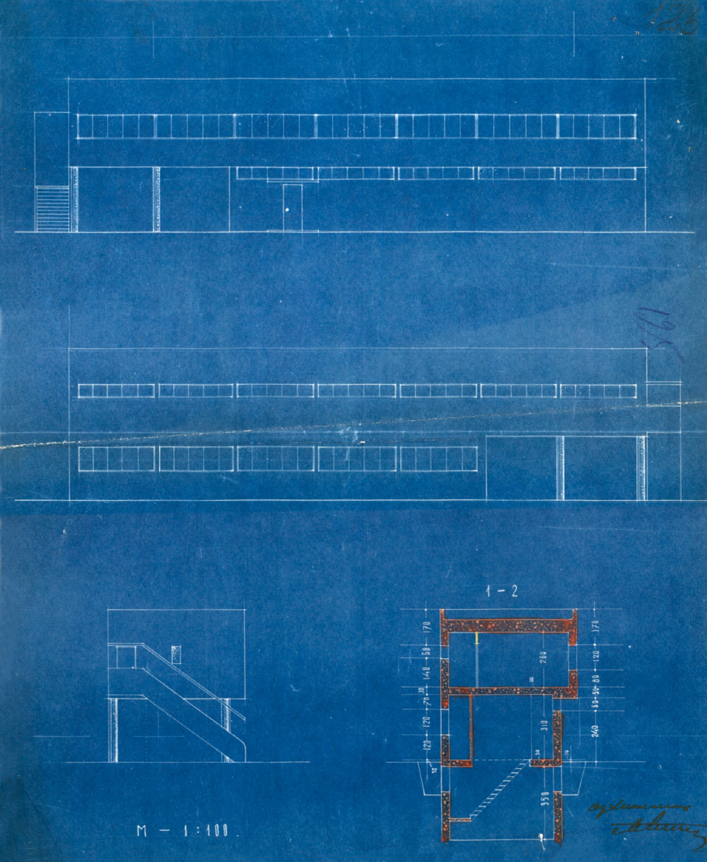 """""""The maintenance block of the Narkomfin Building""""<br>Copyright: The Central Archive of Scientific and Technical Documentation of Moscow / Provided by Ginzburh Architects"""