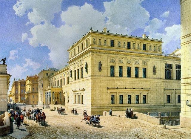 Luigi Premazzi. View of the New Hermitage from the Millionnaya Street, 1861.<br>Copyright: © Stepan Liphart
