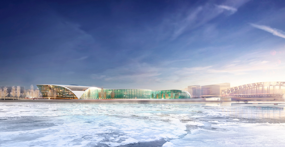 Concept of developing the territory of the Okhta Cape.<br>Copyright: © Valode & Pistre