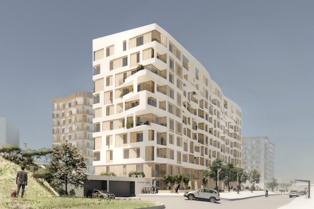 A city block by the seaside<br>Copyright: © OSA Architects