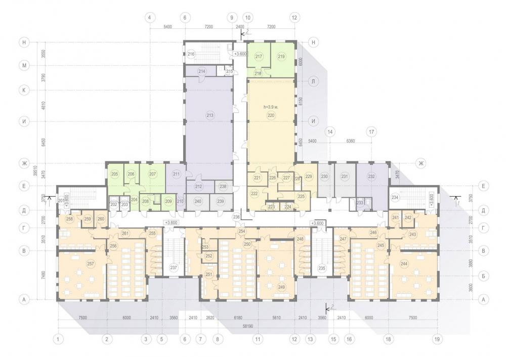 Plan of the 2nd floor. Kindergarten #47 of the Pushkinsky District of St. Petersburg<br>Copyright: © A.Len