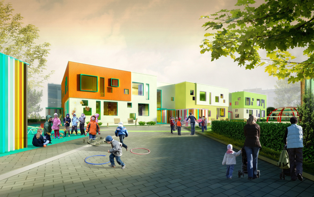 One of the ealy vesions of the kindergarten<br>Copyright: © A.Len