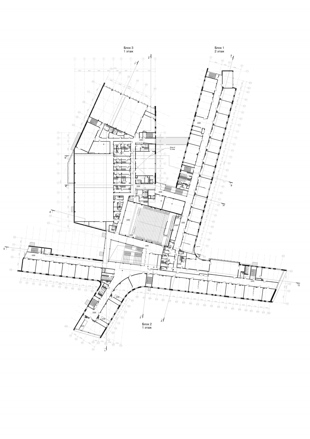 The school for 2,100 students in Troitsk. Plan of the 3rd floor<br>Copyright: © ASADOV Architects