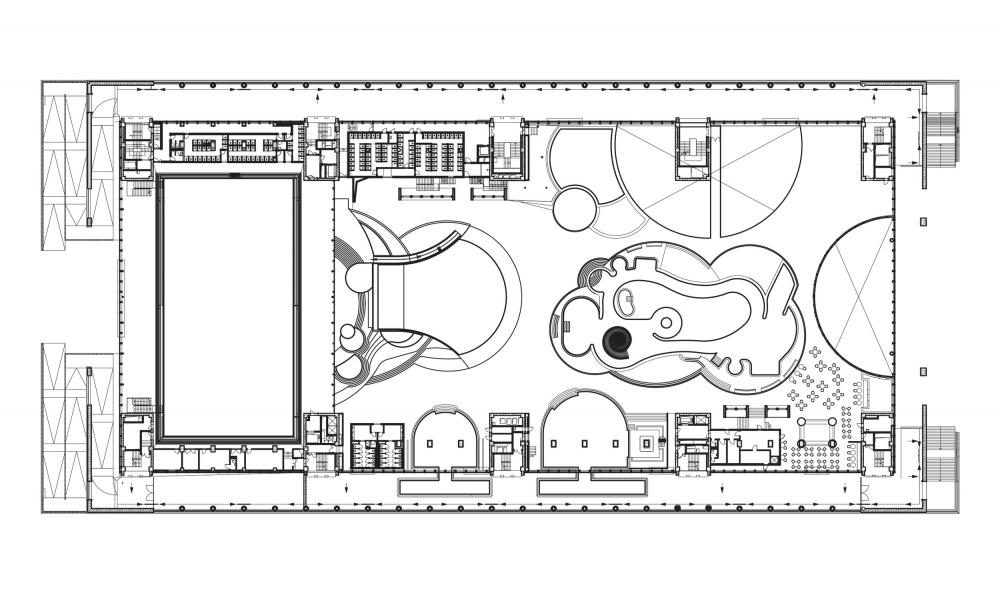 План 2 этажа. Дворец водных видов спорта «Лужники» © UNK project