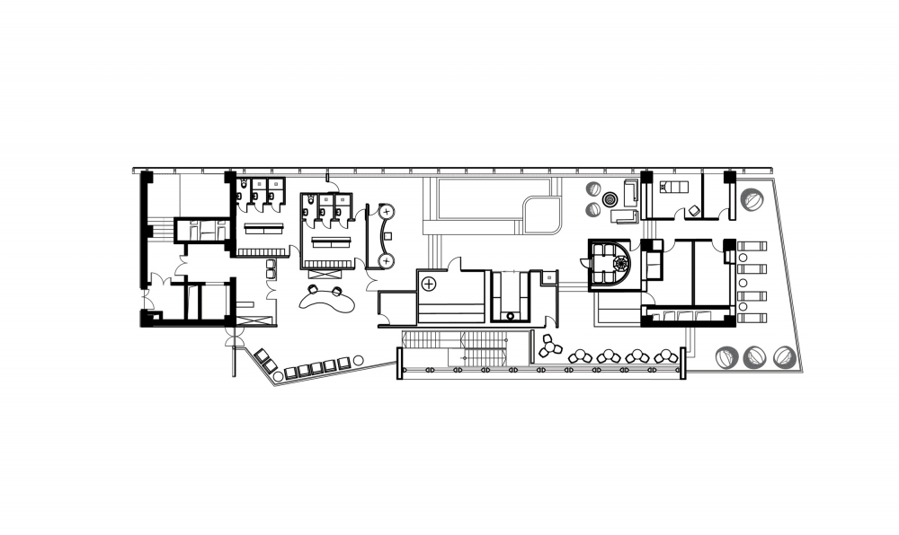 План 3 этажа. Дворец водных видов спорта «Лужники» © UNK project