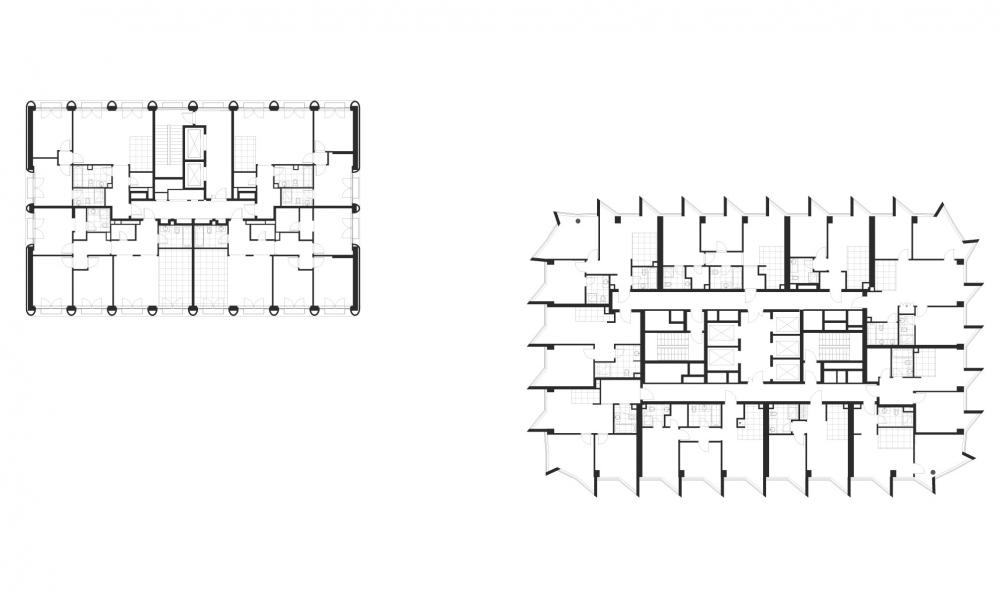 План 2 этажа. ЖК Фили tower © ADM