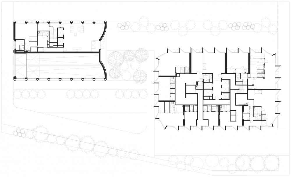 План 1 этажа. ЖК Фили tower © ADM