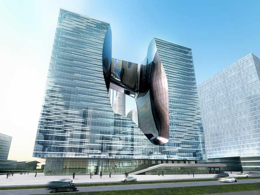 Офисный комплекс «Опус». Проект 2010 г. © Zaha Hadid Architects