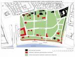 Схема расположения ценных архитектурно-археологических объектов и исторических кварталов Зарядья