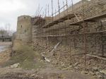 Изборская крепость ранней весной. Часть I