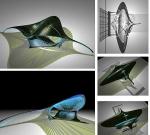 Интерактивный навес моделирует и генерирует свет