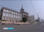 В Красноярске разрушается здание речного вокзала