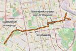 Велодорожки на Авиационной и вокруг ТЦ «Максидом»