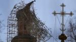 Новодевичий монастырь загорелся из-за китайского фонарика