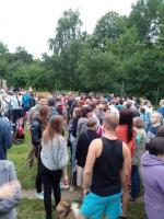 В Москве прошёл митинг против строительства храма в Лосиноостровском парке