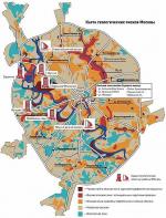 Геология Москвы: Воробьёвы горы наглядно